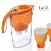 Filtračná kanvica LAICA STREAM LINE ORANGE + 3ks filtrov a poháre ZADARMO