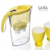 Filtračná kanvica LAICA STREAM LINE YELLOW + 3ks filtrov a poháre ZADARMO